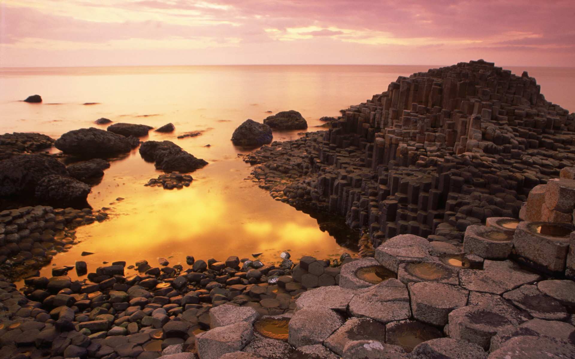 Giant's Causeway at Sunset, County Antrim, Northern Ireland