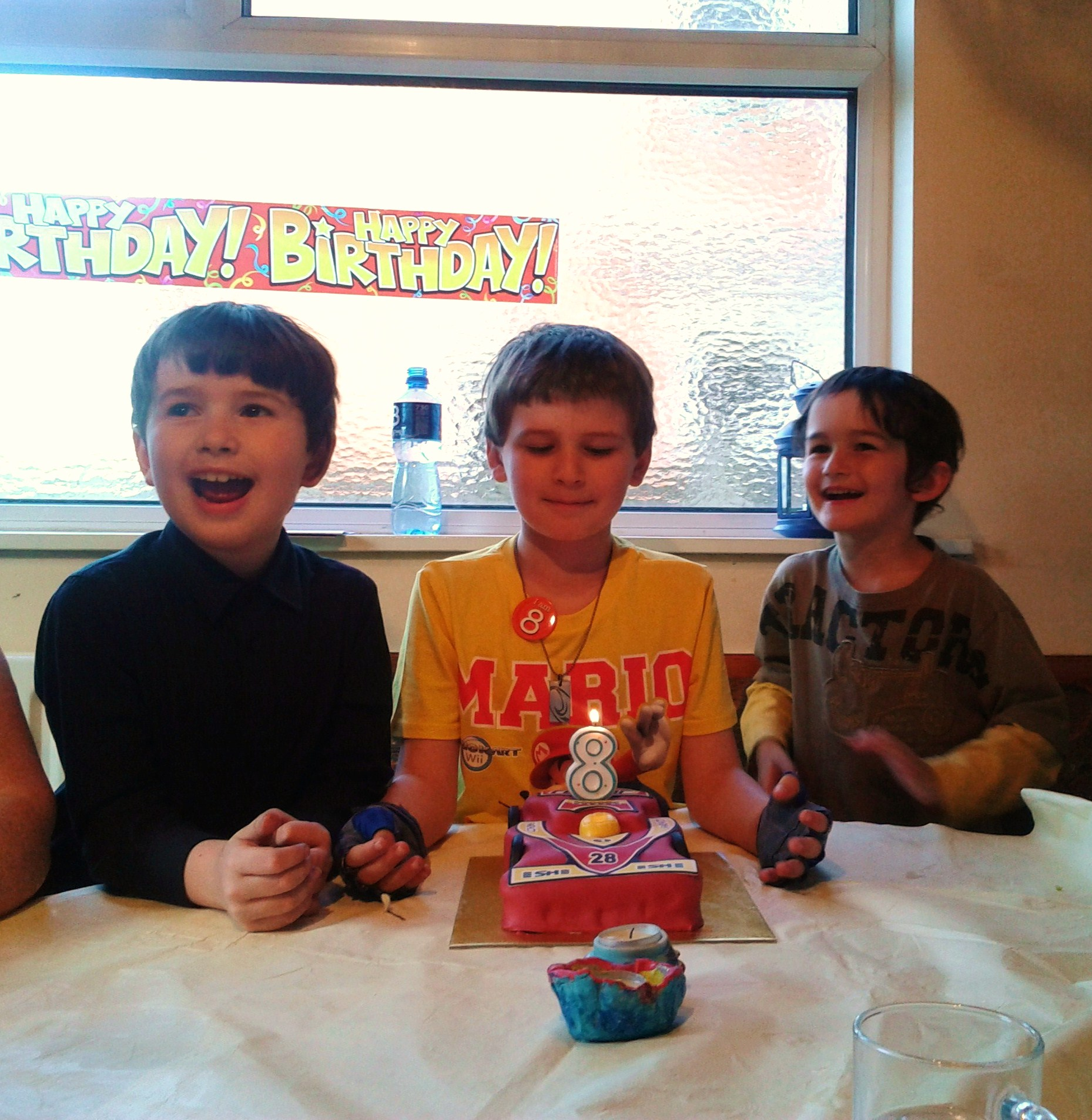 Very happy and proud birthday boy :-) with his brothers