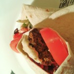 Easy vegan recipes -warm and spicy falafel wrap