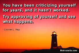 criticizing yourself