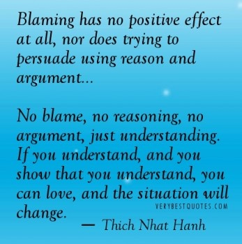 play the blame game